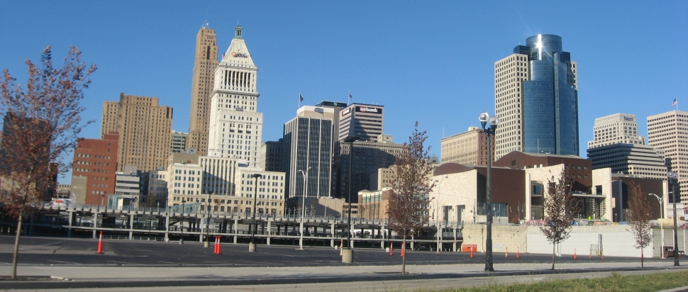 We Buy Commercial Real Estate Cincinnati [img: Downtown Cincinnati from Mehring Way]