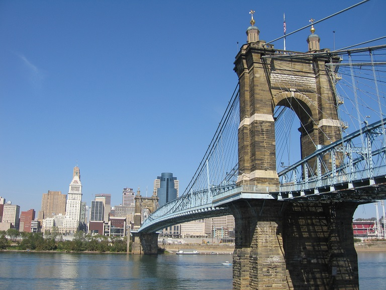 Selling Your North Bend  Cincinnati House Fast - Our Home Buying Process [img: Cincinnati Skyline from the John Roebling Bridge]
